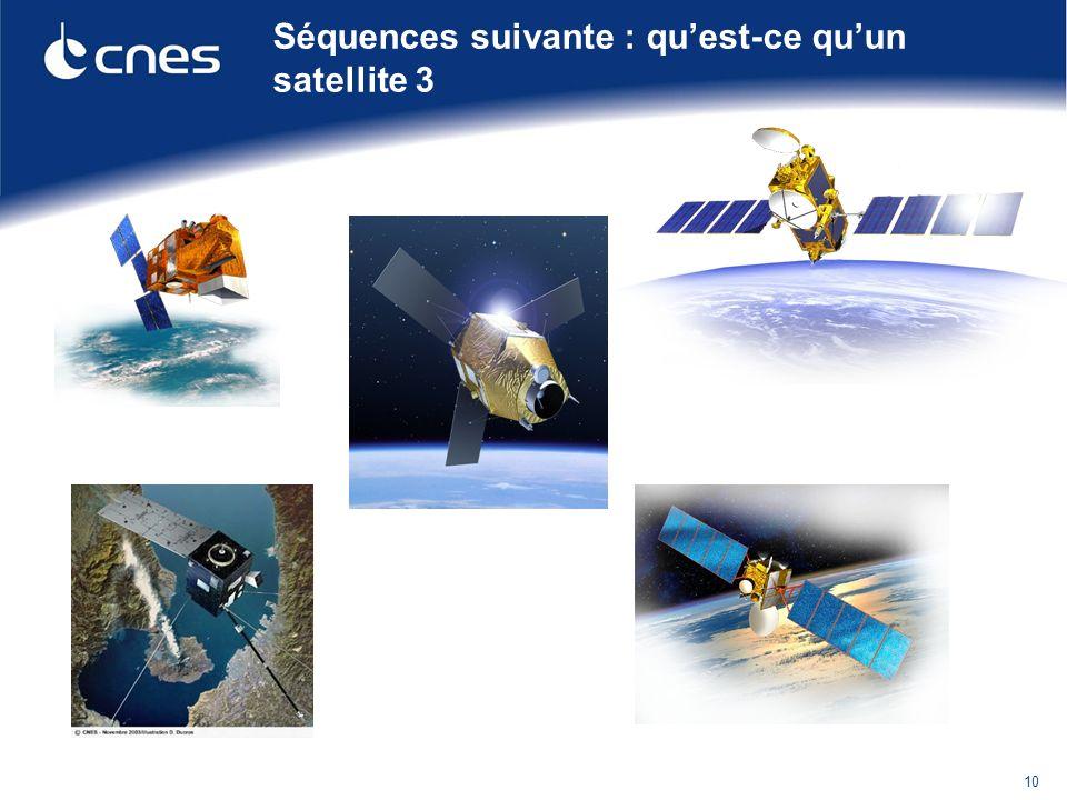 Quelques précisions : http://www.cnes.fr/web/CNES-fr/420-un-panorama-exceptionnel.php Pour en savoir plus : CNES Mag Education Télécharger Cnes Educ n° 17Télécharger Cnes Educ n° 17 (pdf, 1.04 M) http://www.cnes.fr/web/CNES-fr/10688-em-orbite-itineraire-fleche-pour-les-satellites.php Site Orbitographie du Ministère de léducation nationale http://eduscol.education.fr/orbito/ Cliquer sur limage pour voir le défilement dun satellite héliosynchrone