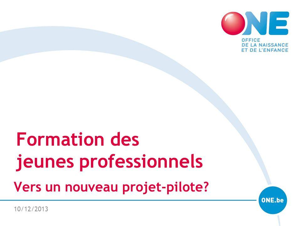 10/12/2013 Formation des jeunes professionnels Vers un nouveau projet-pilote