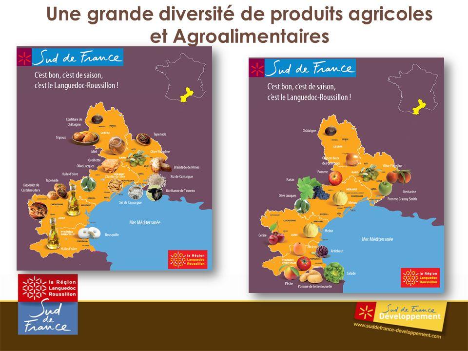Une grande diversité de produits agricoles et Agroalimentaires