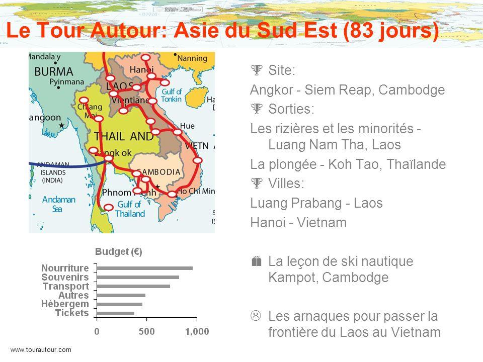 www.tourautour.com Le Tour Autour: Asie du Sud Est (83 jours) Site: Angkor - Siem Reap, Cambodge Sorties: Les rizières et les minorités - Luang Nam Th