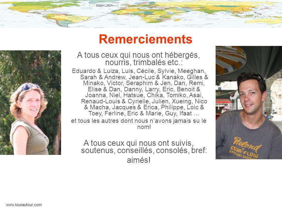 www.tourautour.com Remerciements A tous ceux qui nous ont hébergés, nourris, trimbalés etc.: Eduardo & Luiza, Luis, Cécile, Sylvie, Meeghan, Sarah & A