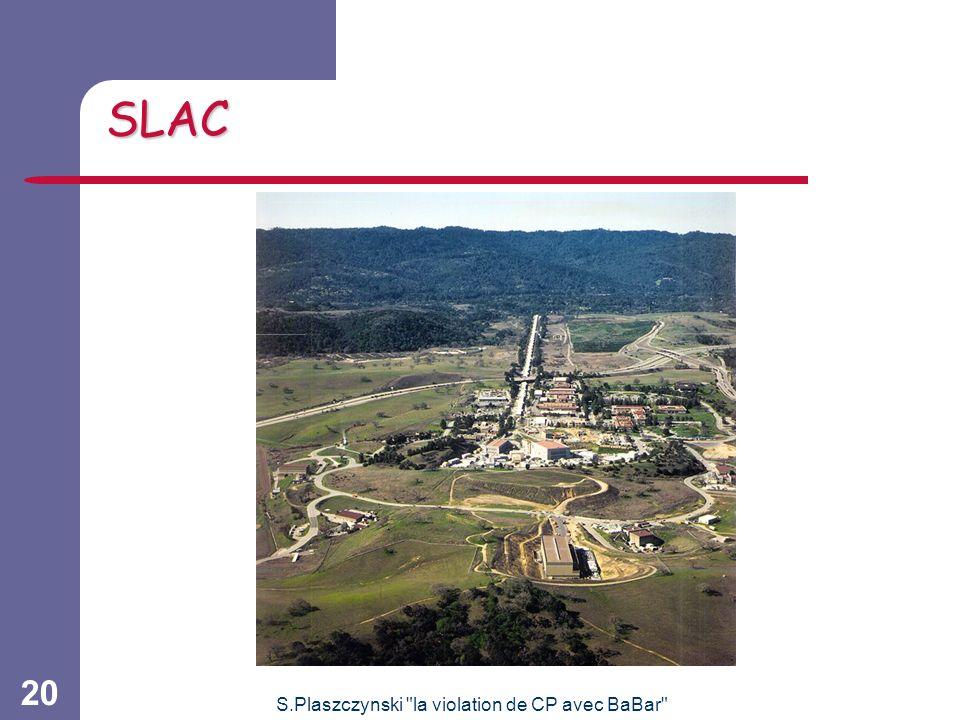 S.Plaszczynski la violation de CP avec BaBar 20 SLAC