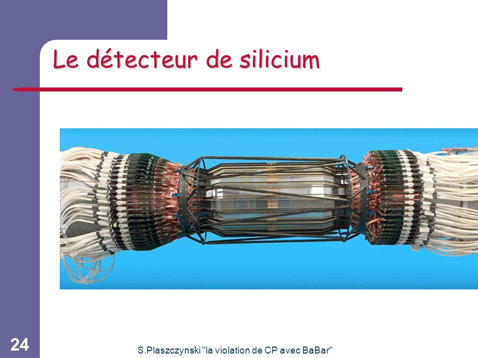 S.Plaszczynski la violation de CP avec BaBar 24 Le détecteur de silicium