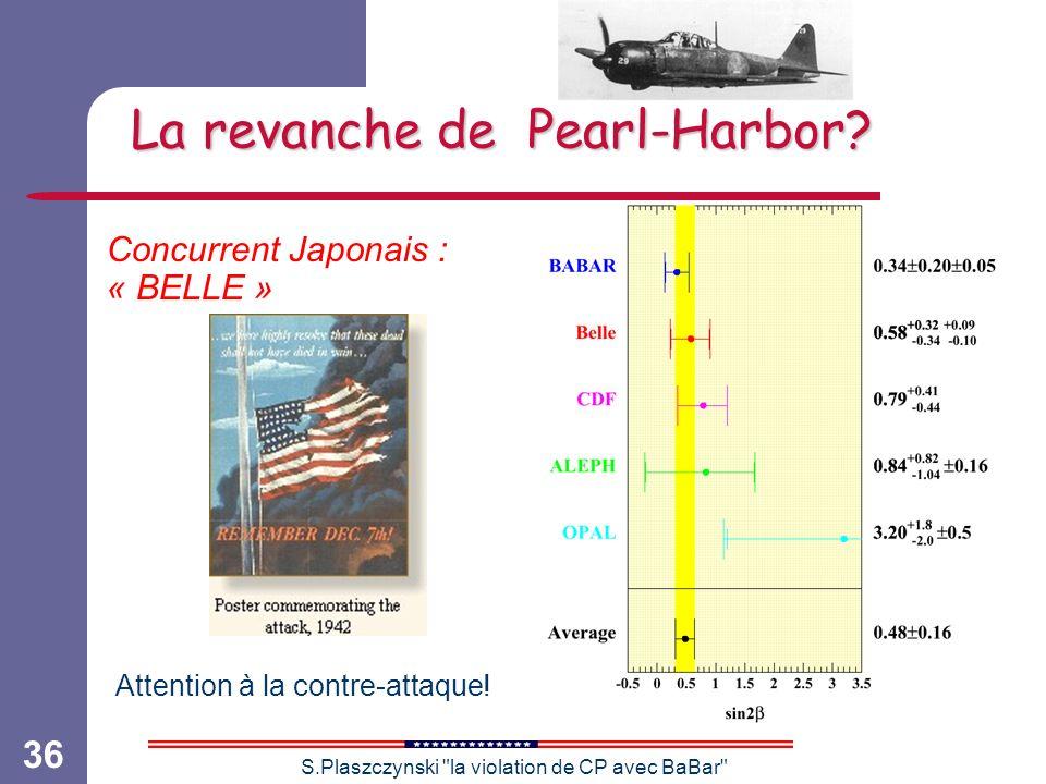 S.Plaszczynski la violation de CP avec BaBar 36 La revanche de Pearl-Harbor.