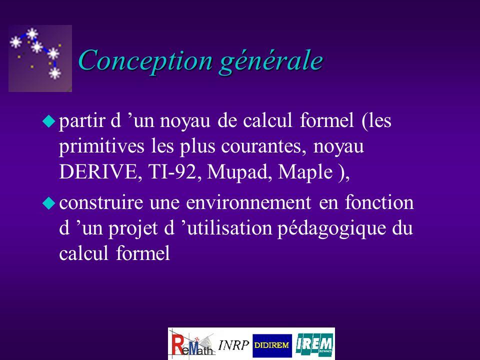 Méthodologie « itérative » 1.Faire des hypothèses sur ce quil faudrait ajouter au calcul formel 2.