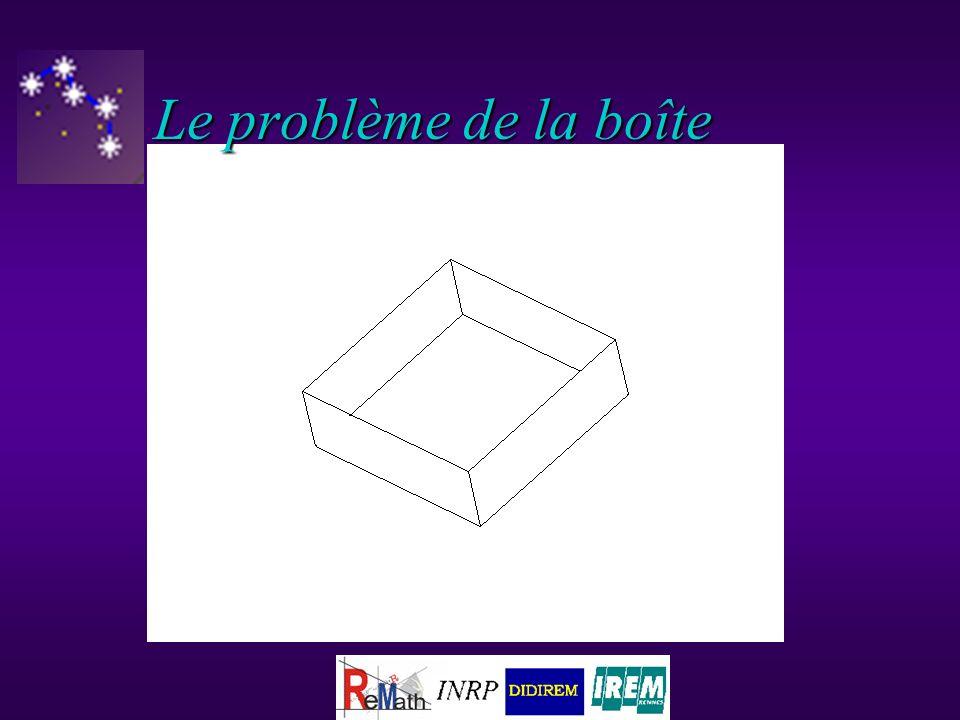 x a Le problème de la boîte