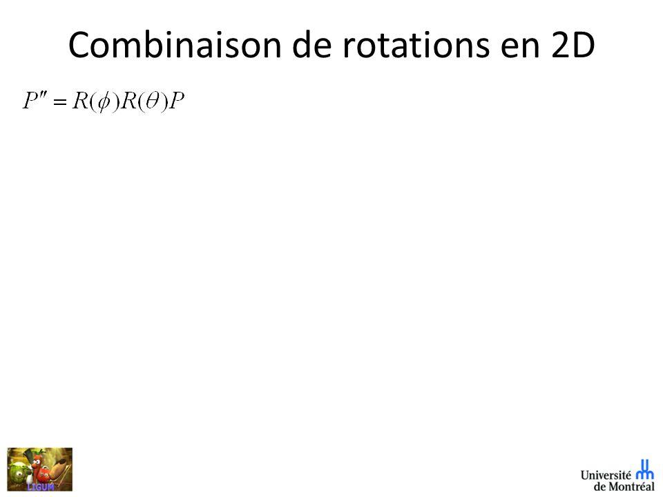 Combinaison de rotations en 2D