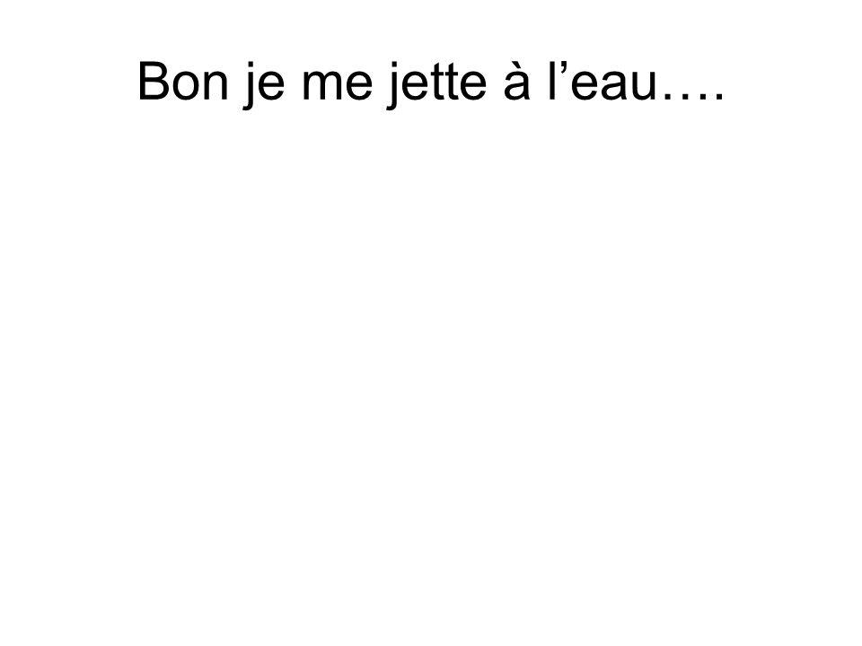 Bon je me jette à leau….