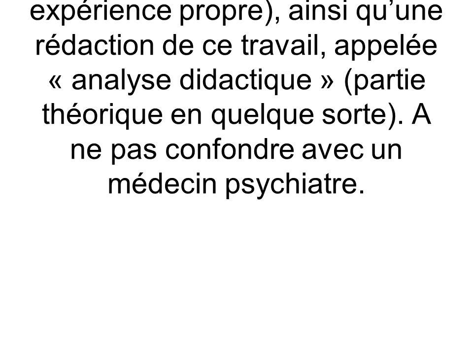 Psychanalyste : Personne ayant fait une analyse complète (la formation en quelque sorte par expérience propre), ainsi quune rédaction de ce travail, a