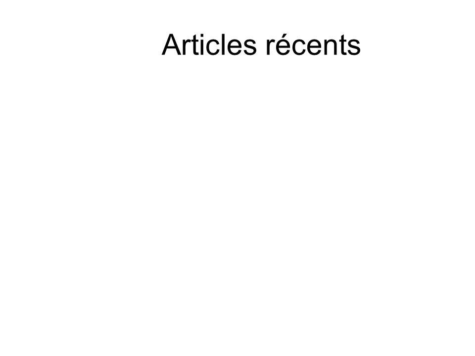 Articles récents