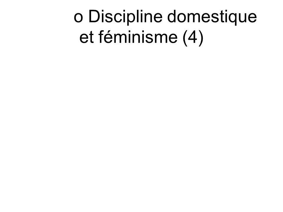 o Discipline domestique et féminisme (4)