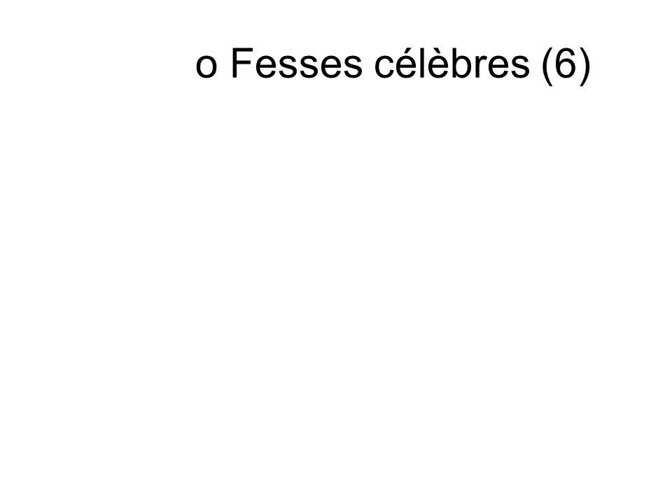 o Fesses célèbres (6)