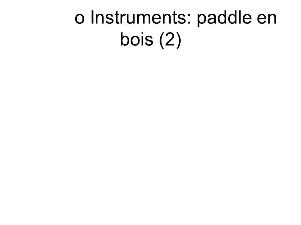 o Instruments: paddle en bois (2)