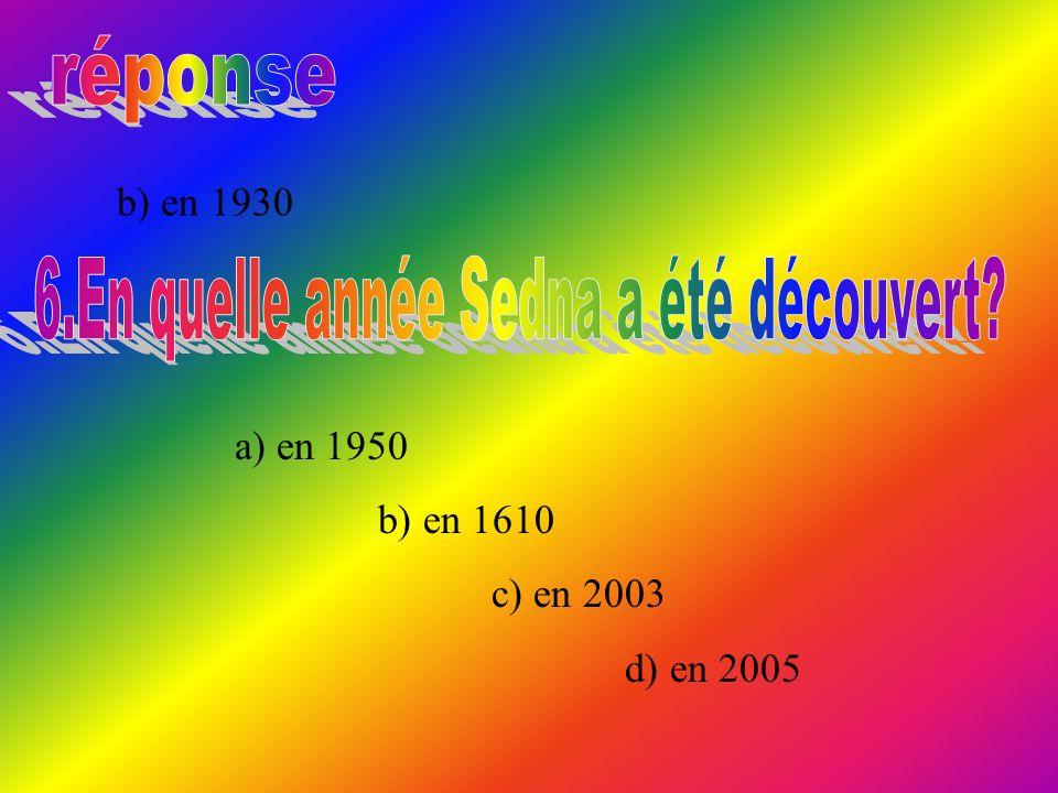 b) en 1930 a) en 1950 b) en 1610 c) en 2003 d) en 2005