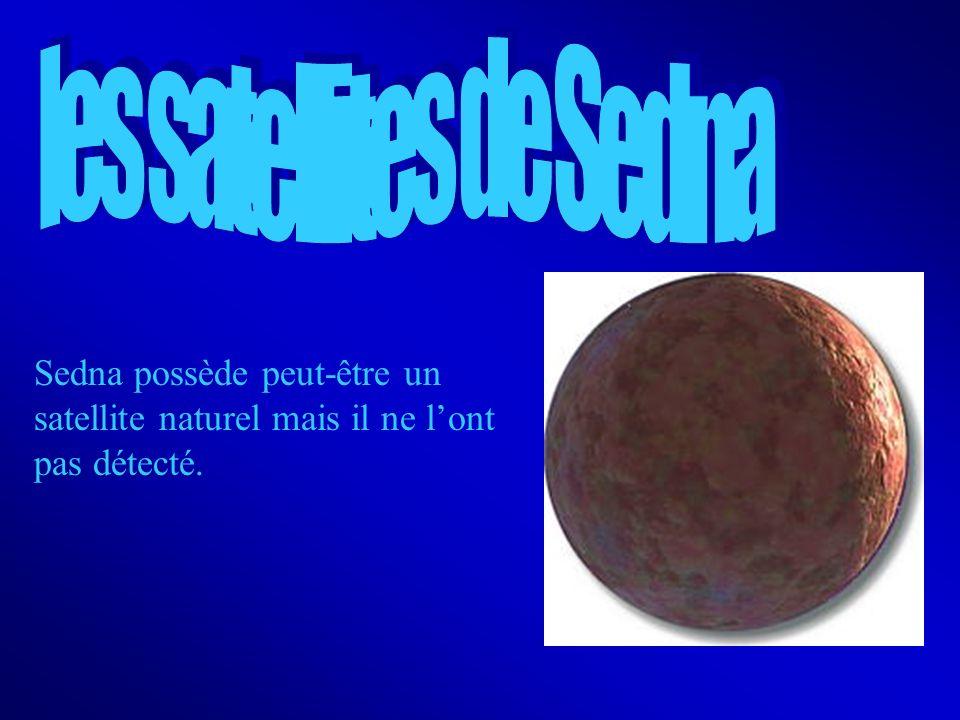 Sedna possède peut-être un satellite naturel mais il ne lont pas détecté.