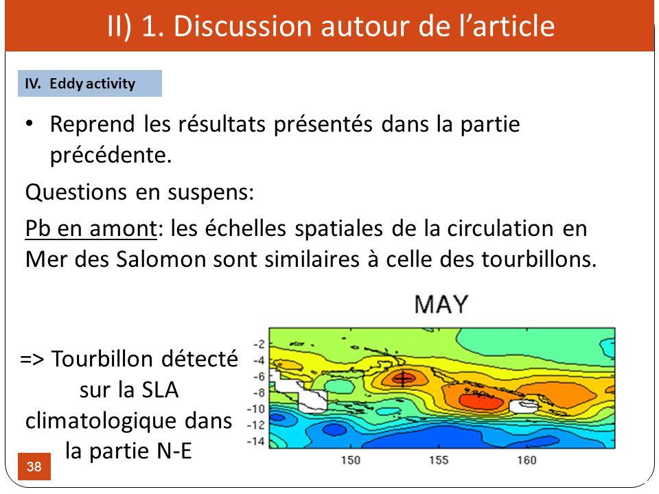 38 Reprend les résultats présentés dans la partie précédente. Questions en suspens: Pb en amont: les échelles spatiales de la circulation en Mer des S
