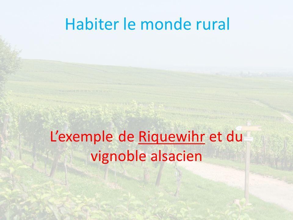 Habiter le monde rural Lexemple de Riquewihr et du vignoble alsacien