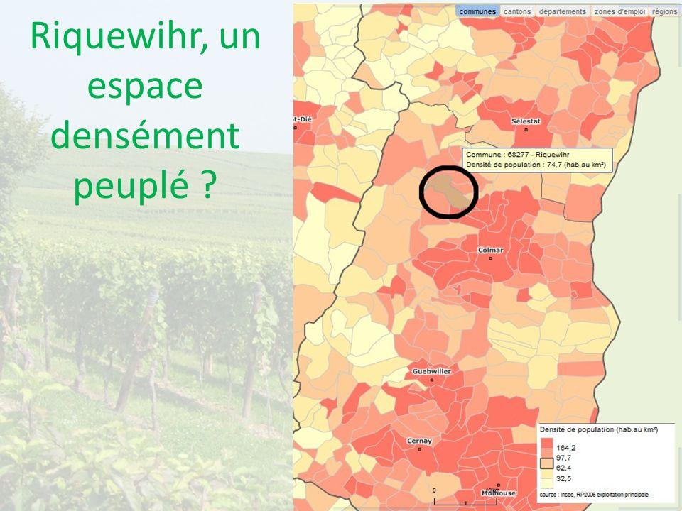 Riquewihr, un espace densément peuplé ?