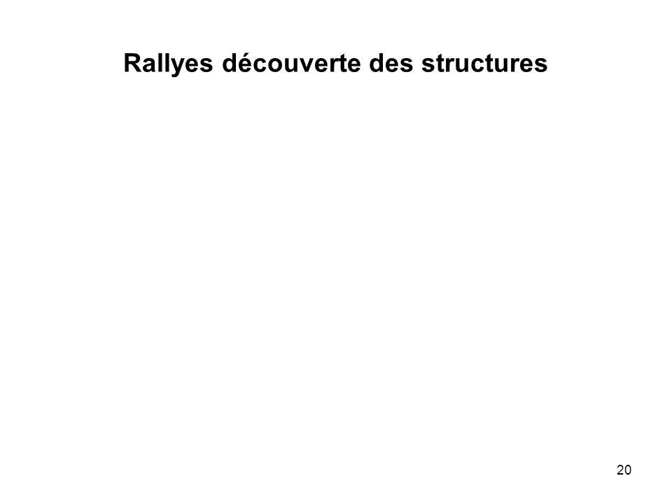 Rallyes découverte des structures 20