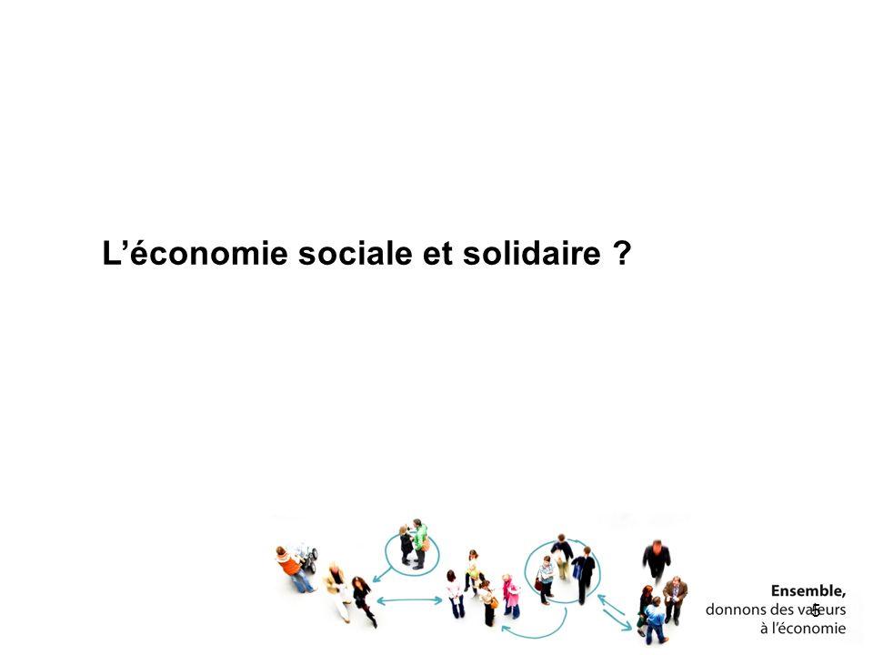 Léconomie sociale et solidaire ? 5