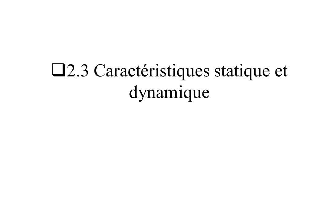 2.3 Caractéristiques statique et dynamique