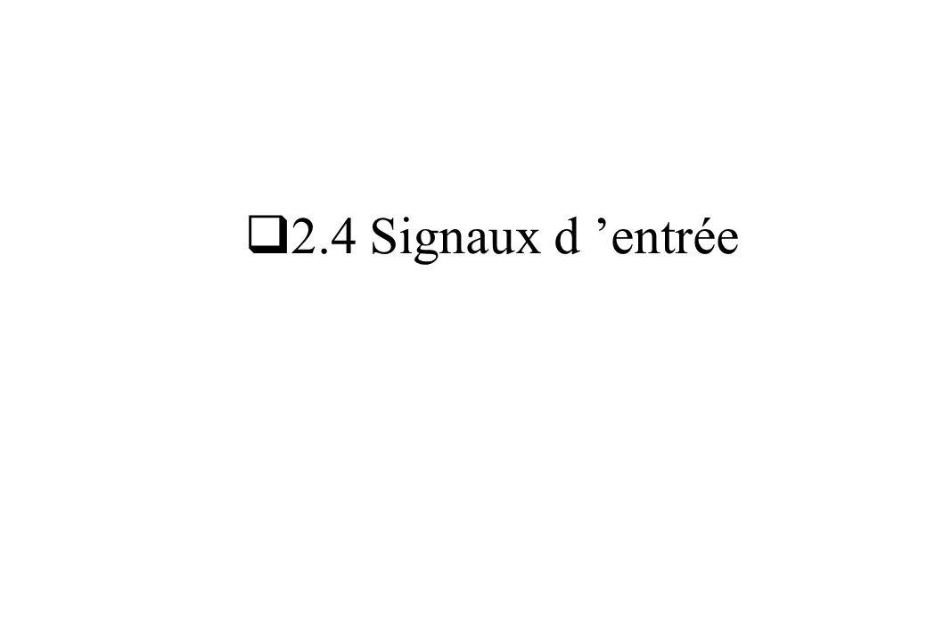 2.4 Signaux d entrée