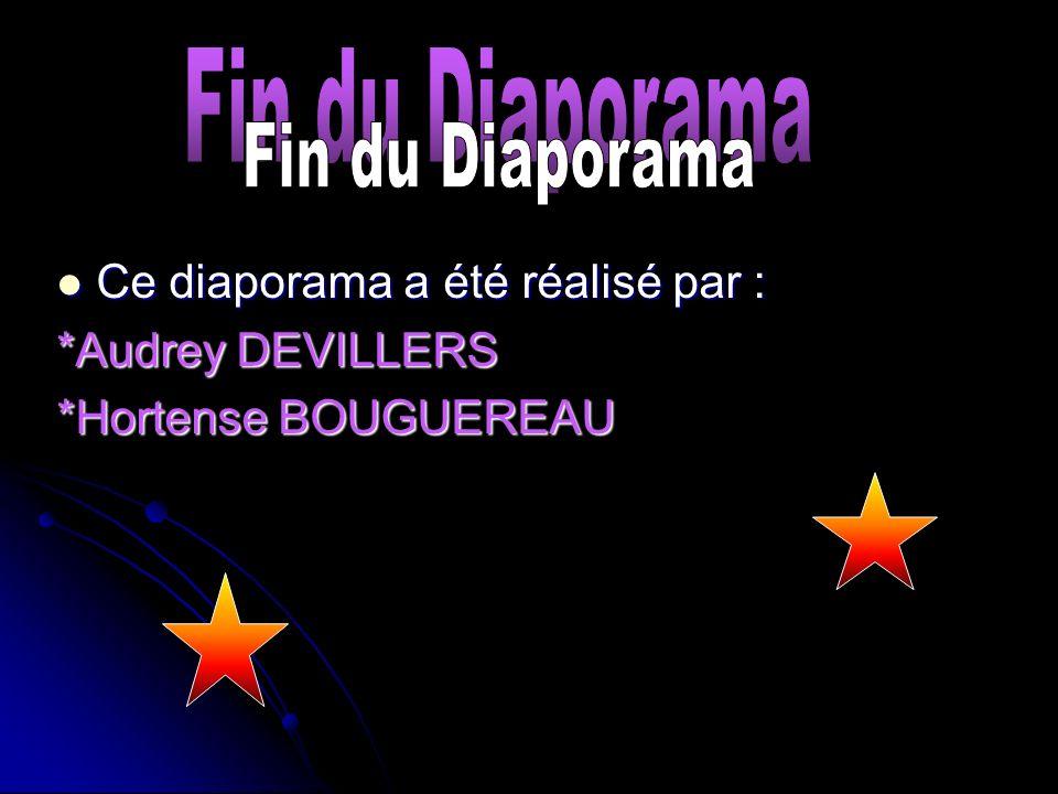 Ce diaporama a été réalisé par : Ce diaporama a été réalisé par : *Audrey DEVILLERS *Hortense BOUGUEREAU