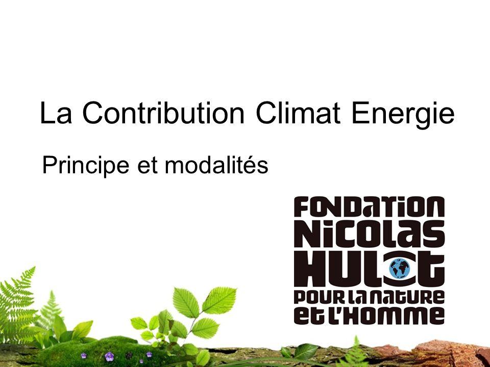 La Contribution Climat Energie Principe et modalités