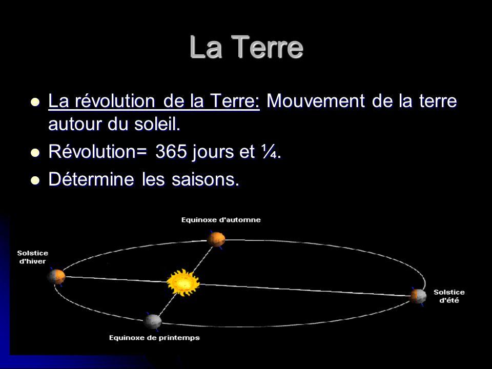 La Terre La révolution de la Terre: Mouvement de la terre autour du soleil. La révolution de la Terre: Mouvement de la terre autour du soleil. Révolut
