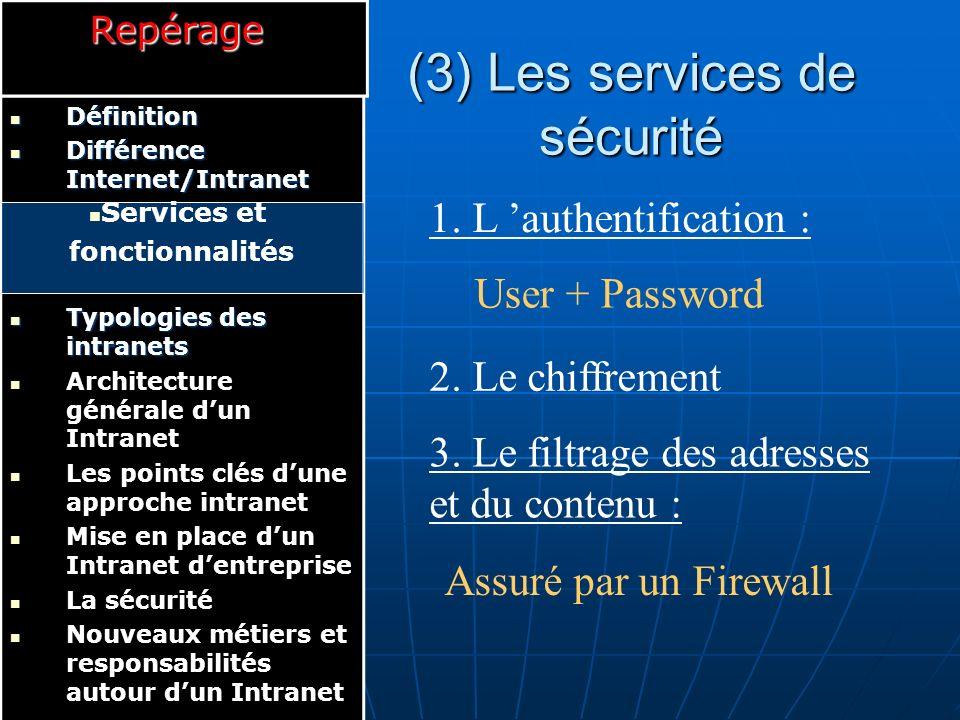 (4) Les services de partage de l information 1.