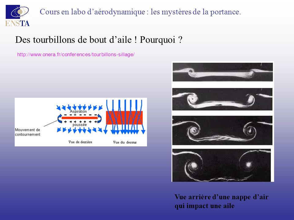Cours en labo daérodynamique : les mystères de la portance. Des tourbillons de bout daile ! Pourquoi ? http://www.onera.fr/conferences/tourbillons-sil