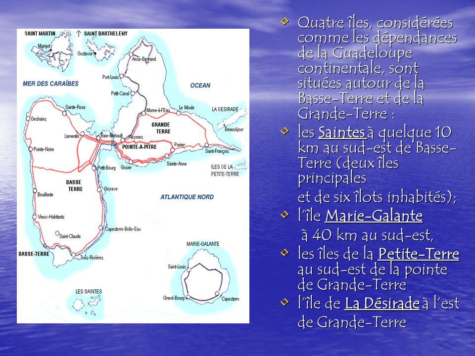 Le département de la Guadeloupe est découpé en trois arrondissements (Basse- Terre, Pointe- à -Pitre et Saint-Martin / Saint-Barthélemy) subdivisés en 43 cantons et 34 communes.