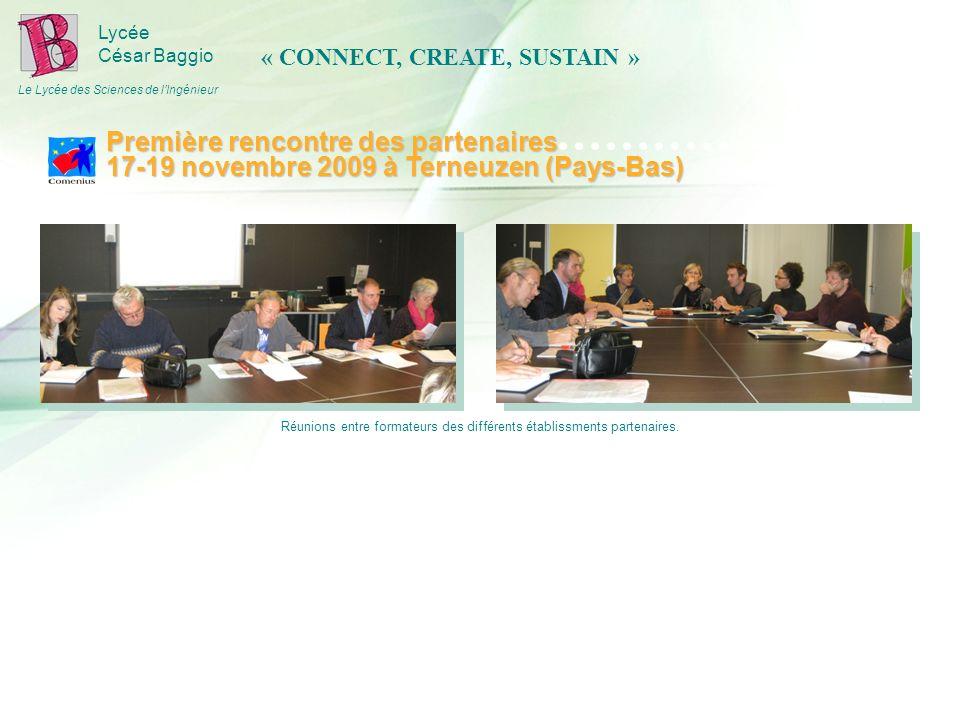 Lycée César Baggio Le Lycée des Sciences de lIngénieur Réunions entre formateurs des différents établissments partenaires.