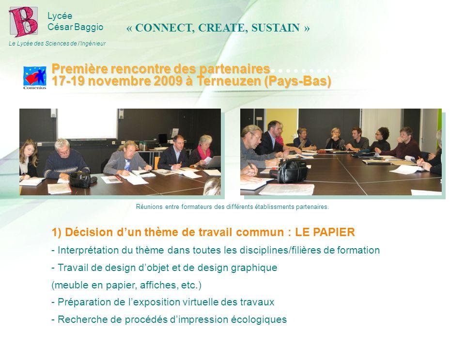 Lycée César Baggio Le Lycée des Sciences de lIngénieur 1) Décision dun thème de travail commun : LE PAPIER - Interprétation du thème dans toutes les d
