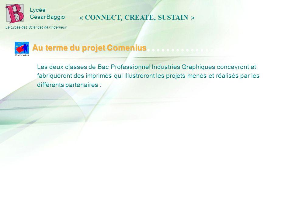 Lycée César Baggio Le Lycée des Sciences de lIngénieur Les deux classes de Bac Professionnel Industries Graphiques concevront et fabriqueront des impr