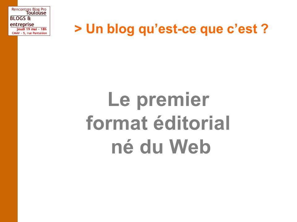 > Un blog quest-ce que cest Le premier format éditorial né du Web