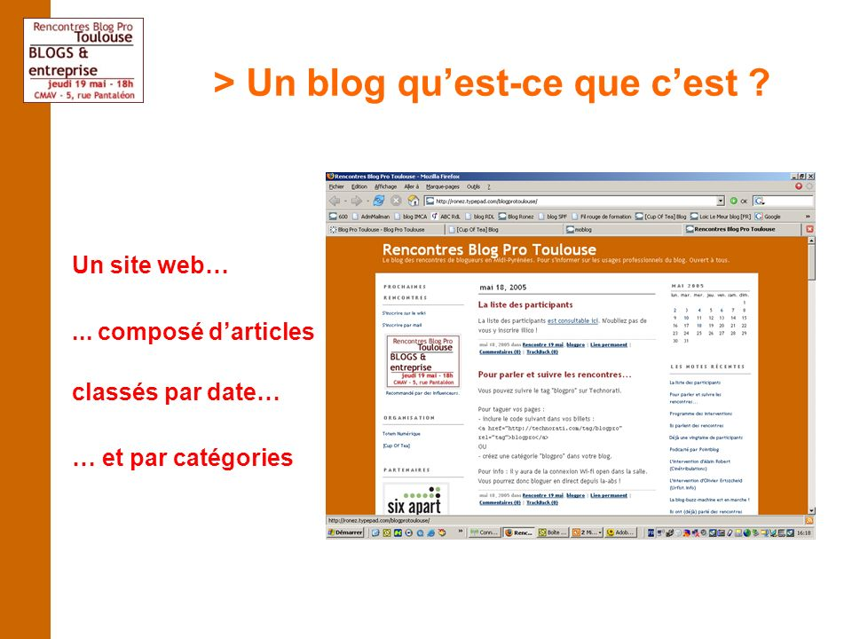 > Un blog quest-ce que cest ? Un système de publication simplifié