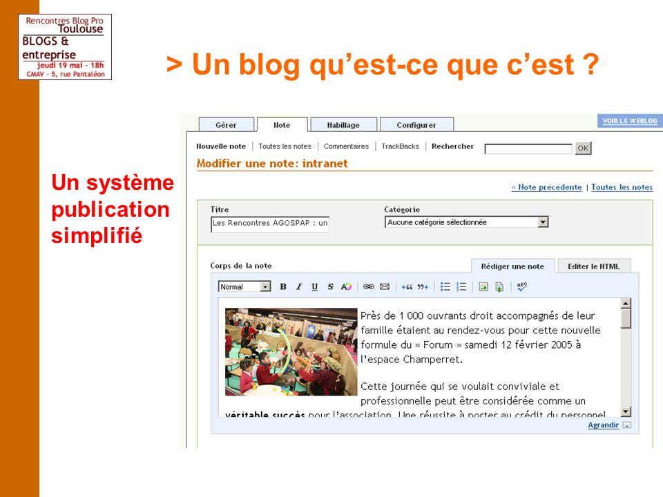 > Un blog quest-ce que cest Un système de publication simplifié