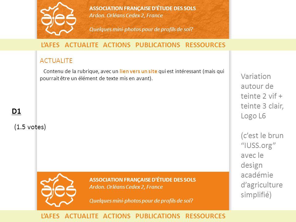 LAFES ACTUALITE ACTIONS PUBLICATIONS RESSOURCES ASSOCIATION FRANÇAISE D ÉTUDE DES SOLS Ardon.