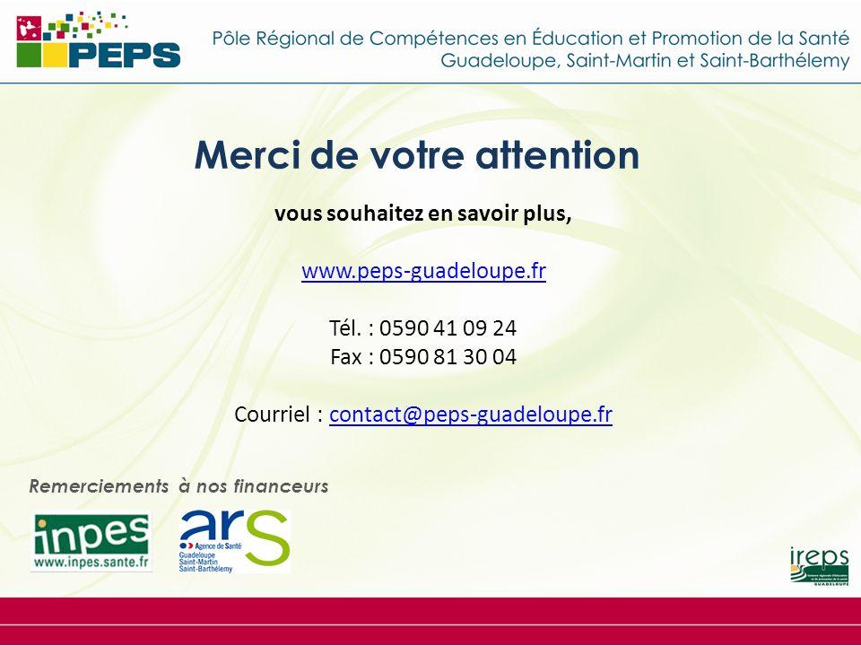Merci de votre attention vous souhaitez en savoir plus, www.peps-guadeloupe.fr Tél.