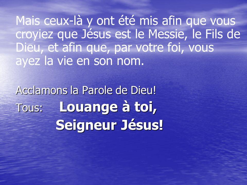 Prêtre Ensemble, professons notre foi Je crois en Dieu, le Père tout-puissant, créateur du ciel et de la terre.