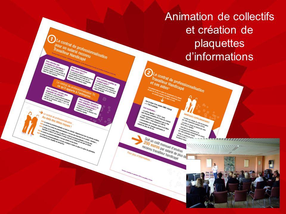 Animation de collectifs et création de plaquettes dinformations