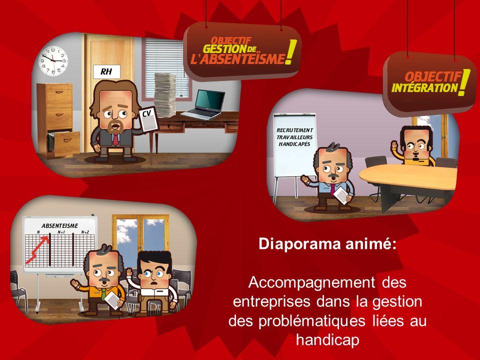 Diaporama animé: Accompagnement des entreprises dans la gestion des problématiques liées au handicap