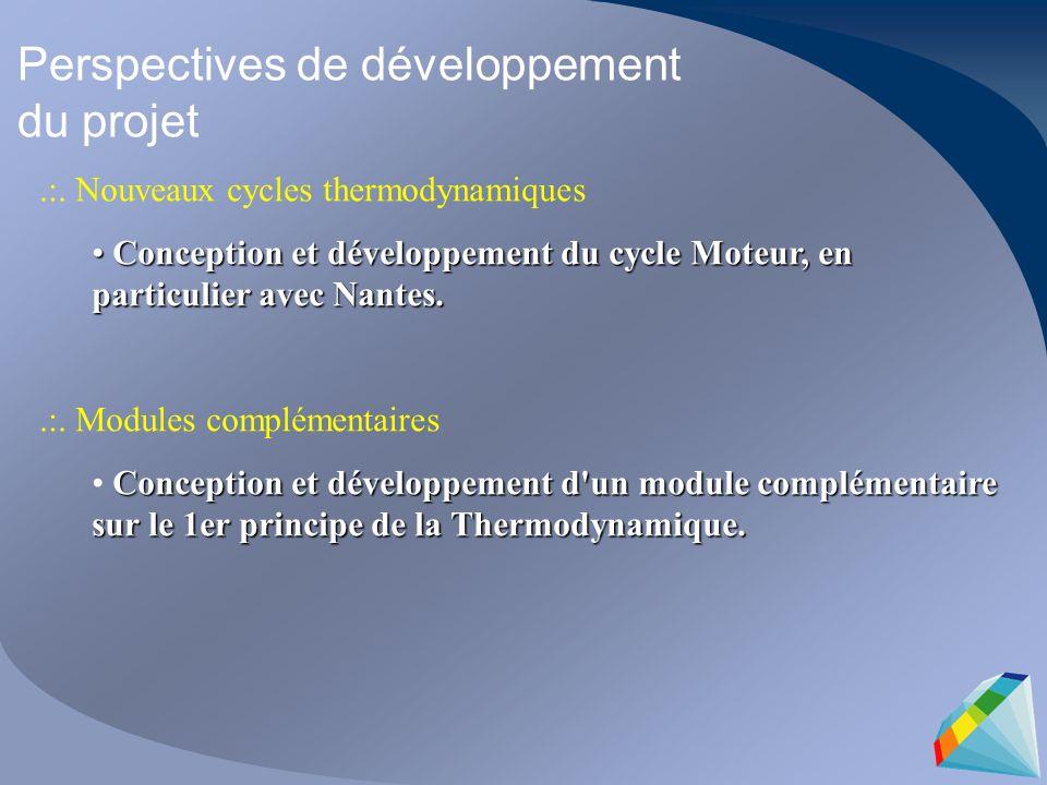 Perspectives de développement du projet.:.
