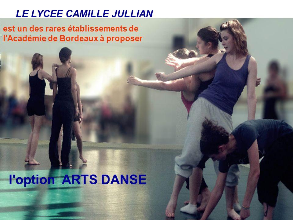 LE LYCEE CAMILLE JULLIAN est un des rares établissements de l'Académie de Bordeaux à proposer l'option ARTS DANSE