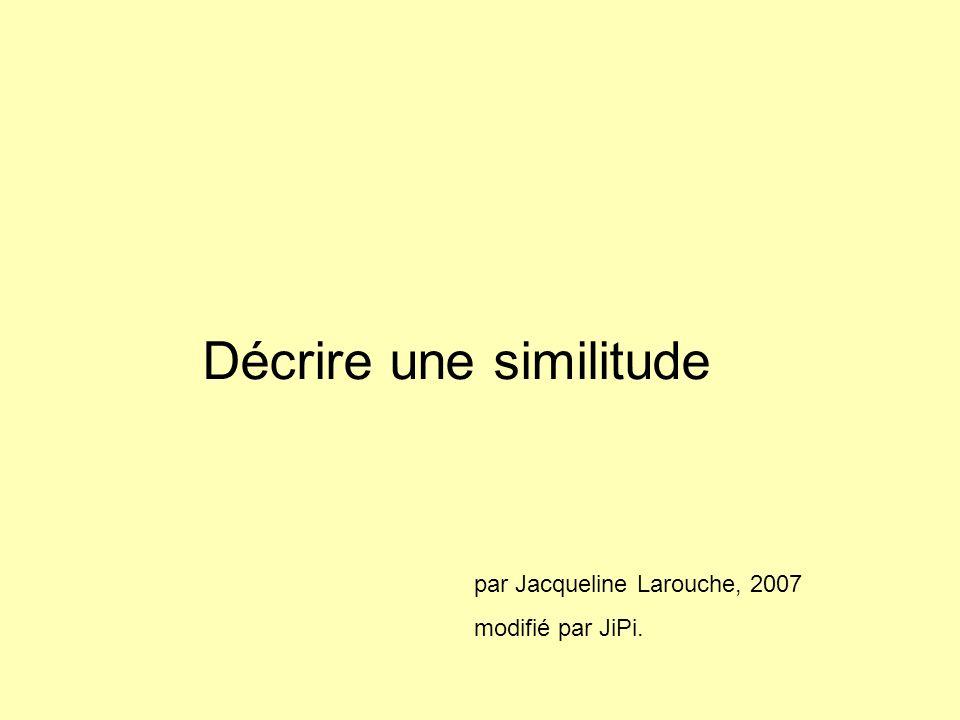 Décrire une similitude par Jacqueline Larouche, 2007 modifié par JiPi.