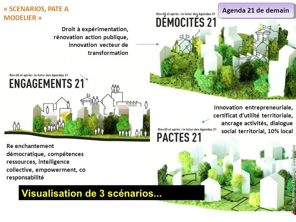 Droit à expérimentation, rénovation action publique, innovation vecteur de transformation Re enchantement démocratique, compétences ressources, intell