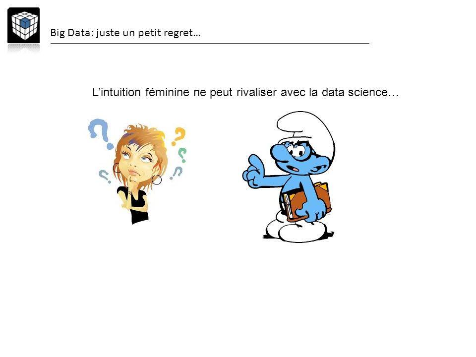 Big Data: juste un petit regret… Lintuition féminine ne peut rivaliser avec la data science…