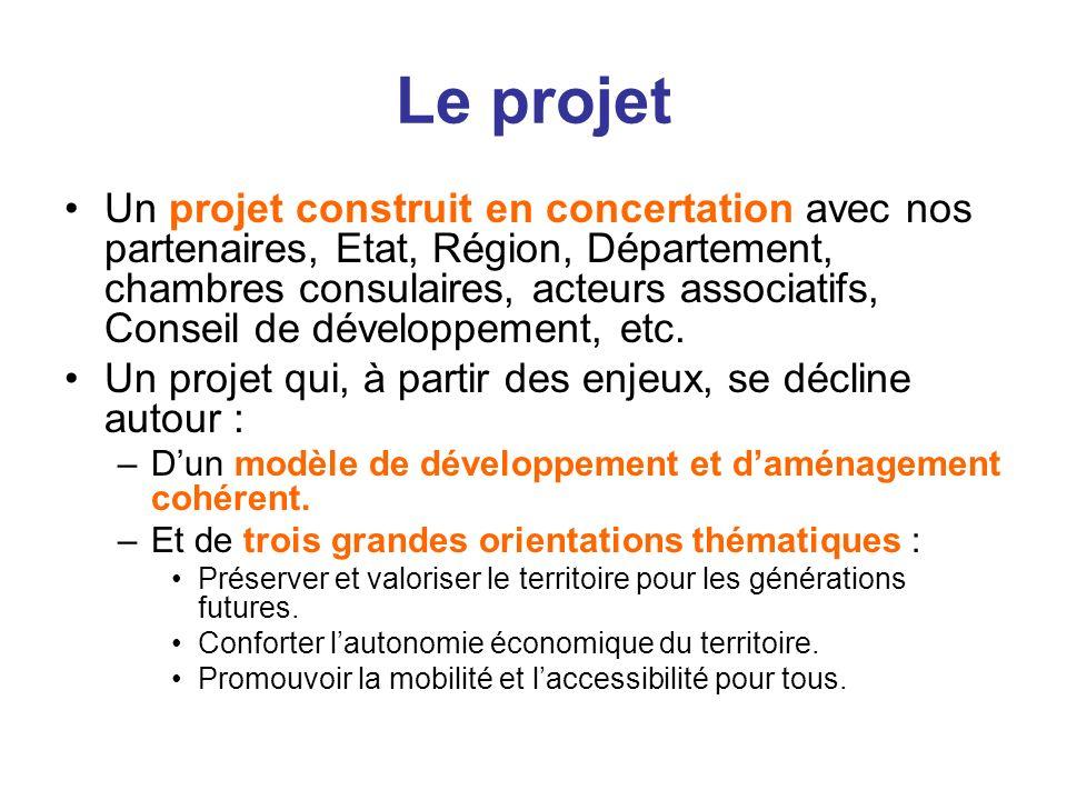 Le projet Un projet construit en concertation avec nos partenaires, Etat, Région, Département, chambres consulaires, acteurs associatifs, Conseil de d