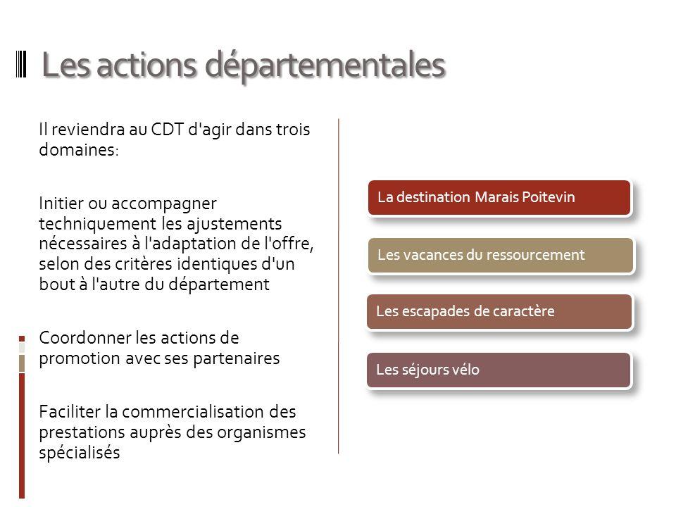 Les actions départementales Il reviendra au CDT d'agir dans trois domaines: Initier ou accompagner techniquement les ajustements nécessaires à l'adapt